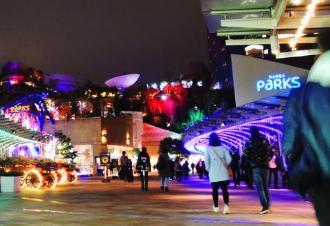 大阪のイルミネーションなんば光旅