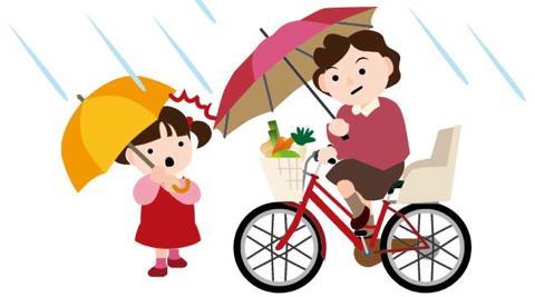 自転車で傘をさすと違反で罰金