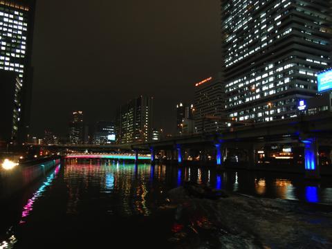 土佐堀からの夜景