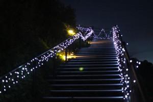 奥河内イルミナージュまでの階段