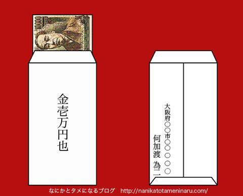 中袋のお金の包み方A