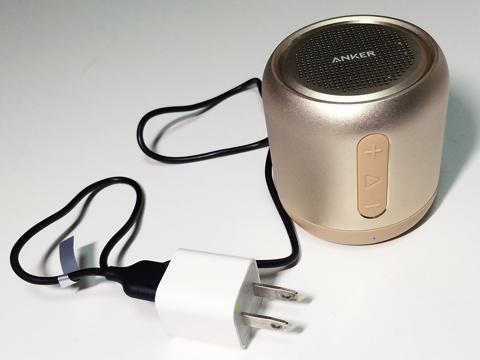 bluetoothスピーカーを充電