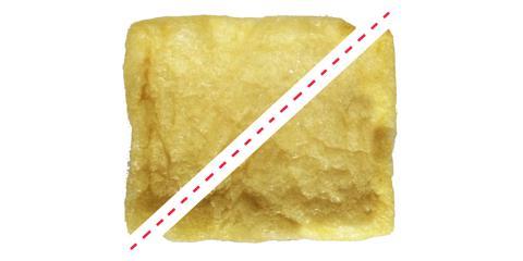 いなり寿司の油揚げが三角形
