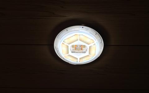 ライトエンハンスメントフィルムを貼付けて点灯